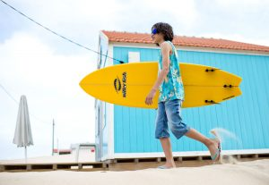 boy with his surf board