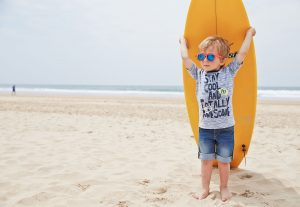 boy with his board