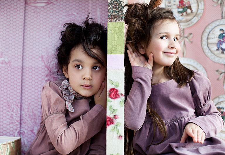 two girls hiding