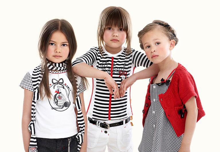 three girls with brand new cloths
