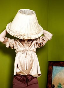 girl dressed as lamp