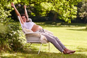 pregnant mother relaxing