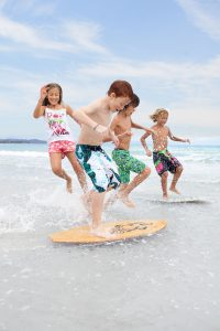 children surfing