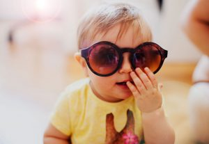 baby with big sunglasses