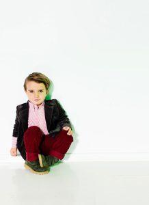sitting boy