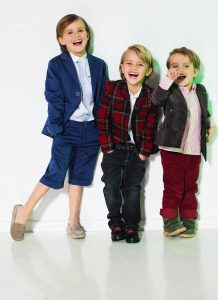 three boys laughing
