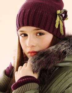 girl with winter clothing