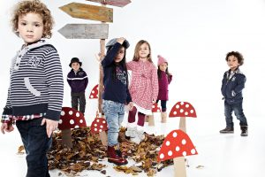 group of children and mushrooms