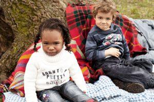 boy and girl having a picnic