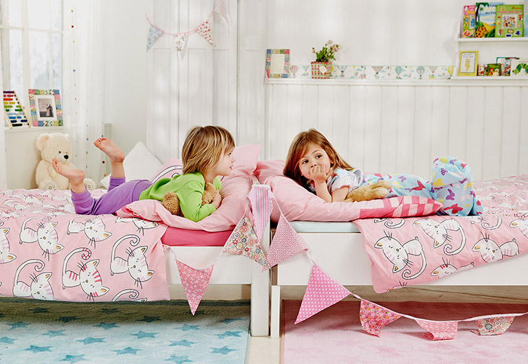 girls in a bedroom