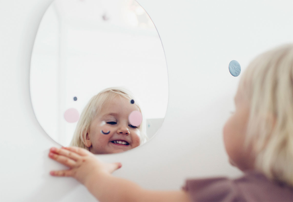 child in the bathroom
