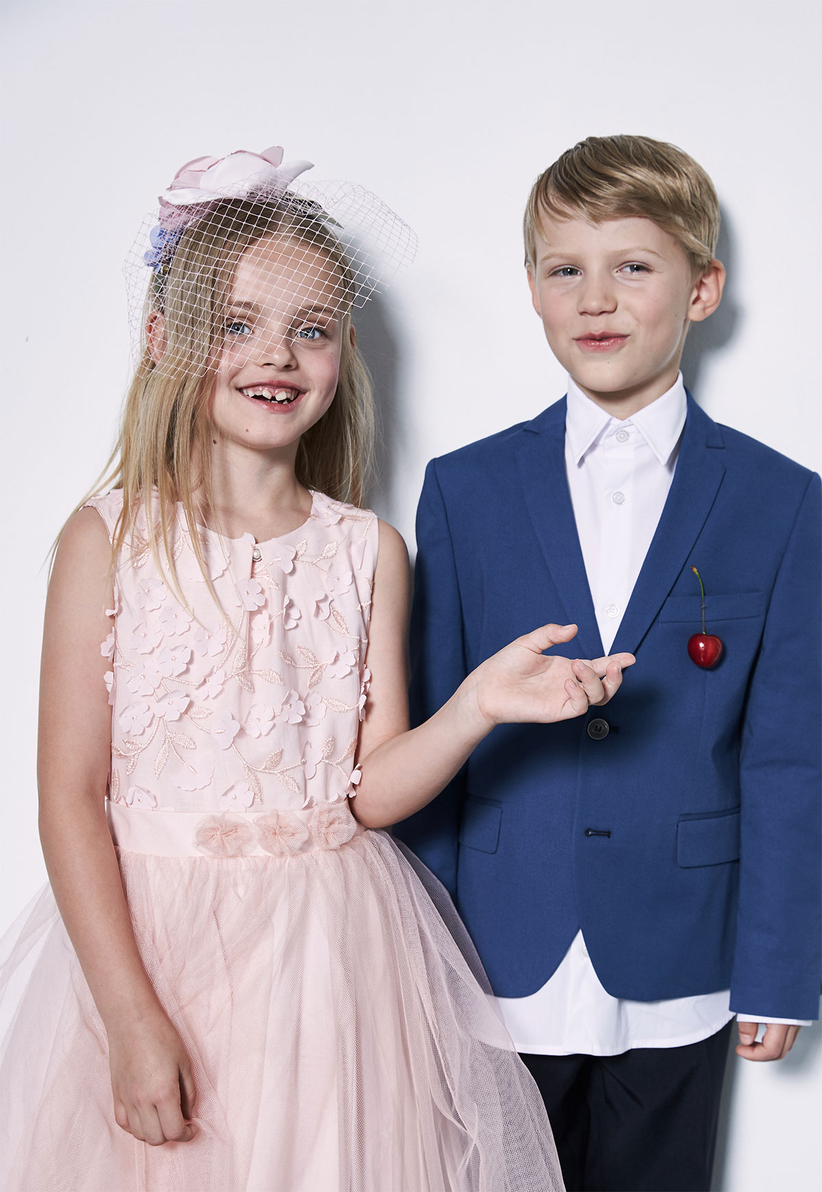 boy and girl formally dressed
