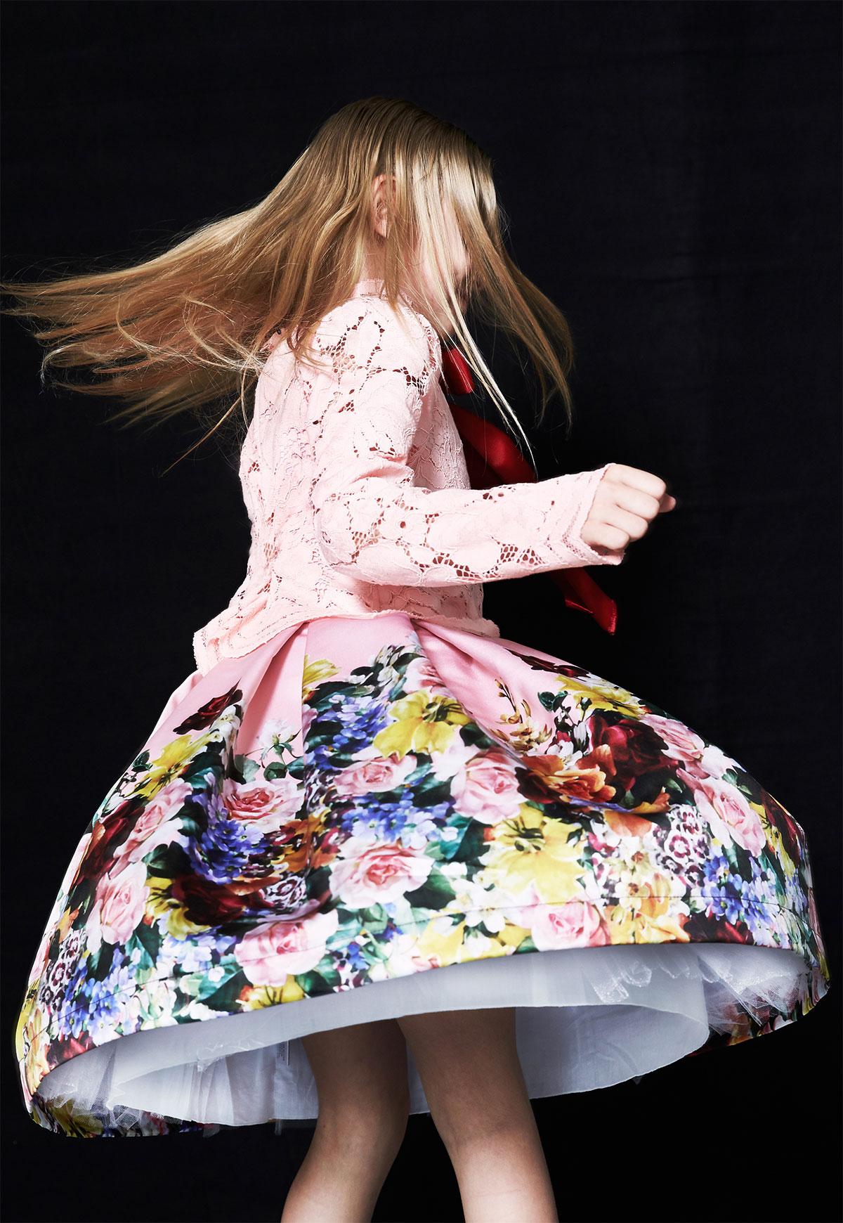 flower dress in motion