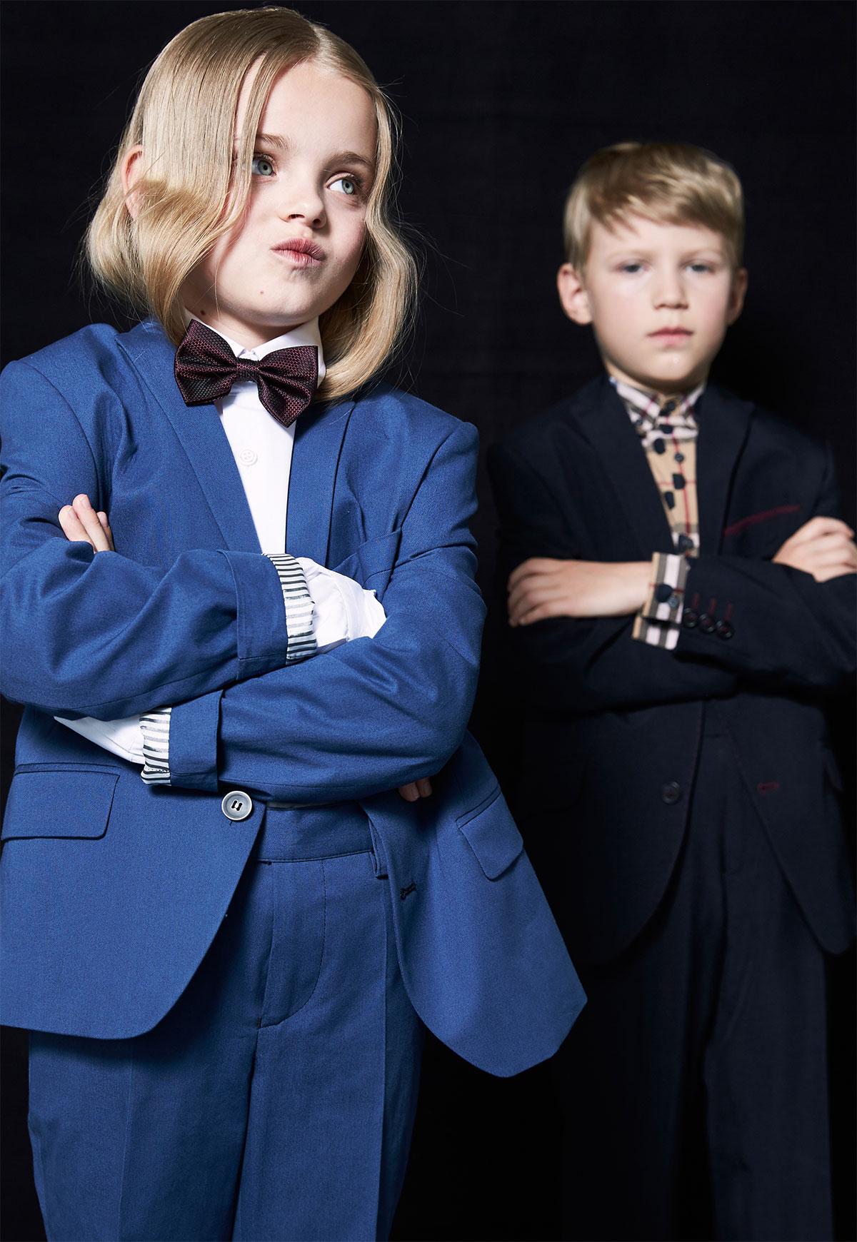 children formely dressed