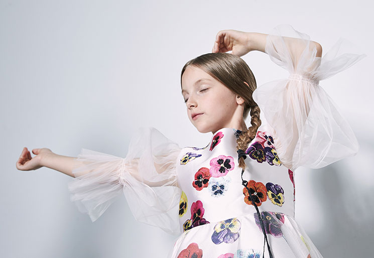 girl with flowerdress